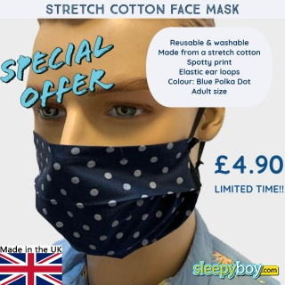 Blue mask with Large Polka dots