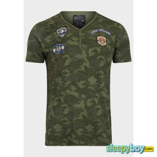 Dissident Mens Military Style Camouflage T-Shirt