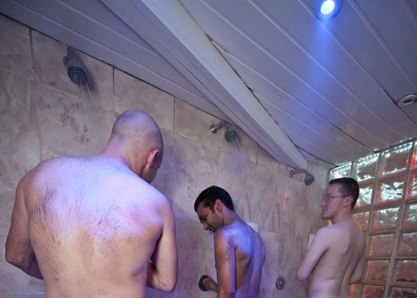 Hot Shower in Gay Sauna